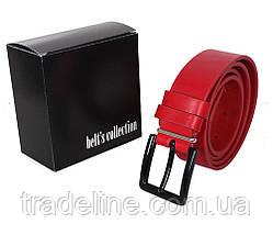 Мужской кожаный ремень Dovhani TESS098-0707 105-125 см Красный, фото 2