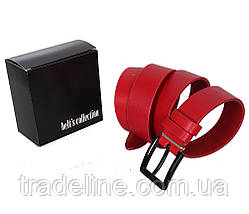 Мужской кожаный ремень Dovhani TESS098-0707 105-125 см Красный, фото 3