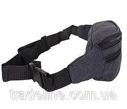 Сумка текстильная на пояс Dovhani Q001-55BLACK Черная, фото 2