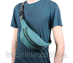 Сумка текстильная на пояс Dovhani Q001-144GREEN Зеленая, фото 2