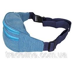 Сумка текстильная на пояс Dovhani Q001-177SBLUE Голубая, фото 3