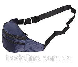 Сумка текстильная на пояс Dovhani Q00850-1DBLUE Синяя, фото 3