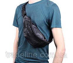 Сумка текстильная на пояс Dovhani Q00857BLACK Черная, фото 2