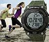 Skmei 1112 Fitness зеленые спортивные мужские часы с шагомером, фото 6