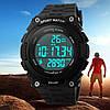 Skmei Fitness 1112 черные спортивные мужские часы с шагомером, фото 2