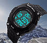 Skmei Fitness 1112 черные спортивные мужские часы с шагомером, фото 7