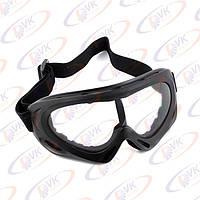 Мотоочки кроссовые Vega MJ-301 чёрные, белое стело