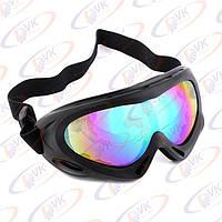 Мотоочки кроссовые Vega MJ-301 чёрные, тонированное стекло