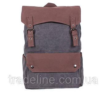 Рюкзак мужской Dovhani 6075-111BLACK Серо-Коричневый