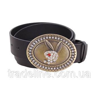Женский кожаный ремень Dovhani QS2203-113 115-125 см Черный
