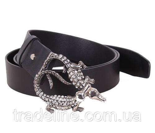 Женский кожаный ремень Dovhani QS2203-222 115-125 см Черный, фото 2