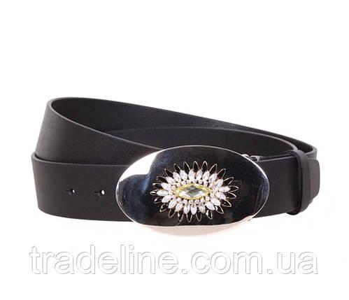 Женский кожаный ремень Dovhani QS2203-336 115-125 см Черный, фото 2