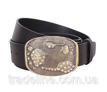 Женский кожаный ремень Dovhani QS2203-556 115-125 см Черный