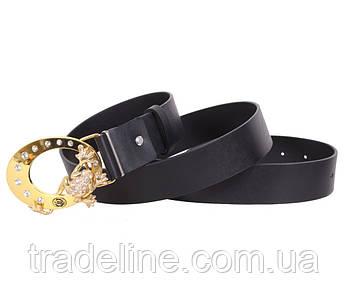 Женский кожаный ремень Dovhani QS2203-777 115-125 см Черный