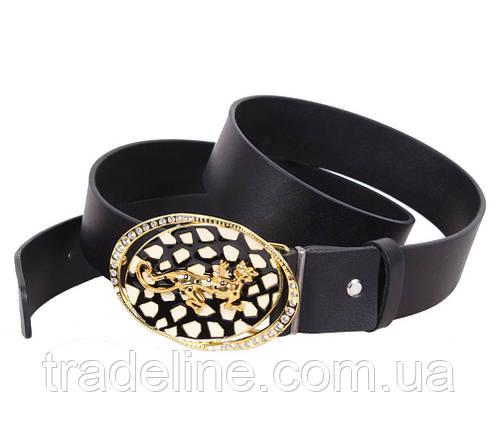 Женский кожаный ремень Dovhani QS2203-1414 115-125 см Черный, фото 2