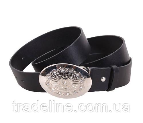 Женский кожаный ремень Dovhani QS2203-1616 115-125 см Черный, фото 2