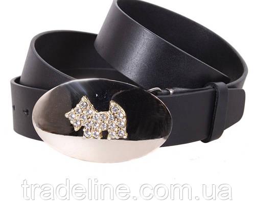 Женский кожаный ремень Dovhani QS2203-2222 115-125 см Черный, фото 2