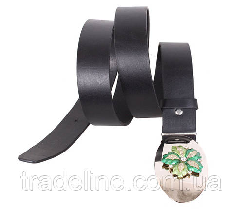 Женский кожаный ремень Dovhani QS2203-2626 115-125 см Черный, фото 2