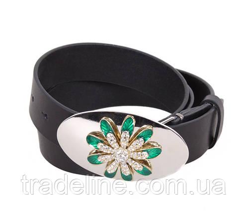 Женский кожаный ремень Dovhani QS2203-2828 115-125 см Черный, фото 2
