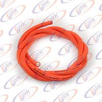 Провод высоковольтный силиконовый оранжевый 1 м