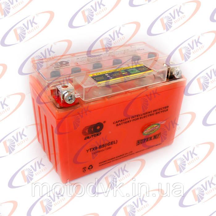 Аккумулятор гелевый 12в 8А YTX4L-BS I-GEL (с индикатором), OUTDO - DVKmoto магазин мотозапчастей и экипировки. в Одессе