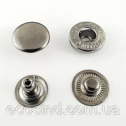 Кнопка АЛЬФА - 15мм  Блэк никель (50шт.)