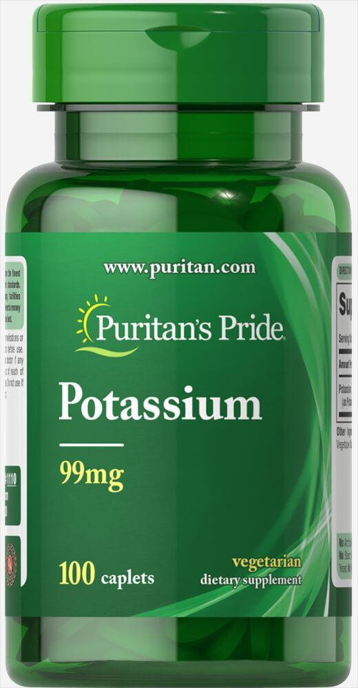 Витамины и минералы Puritan's Pride - Potassium 99 мг (100 капсул)