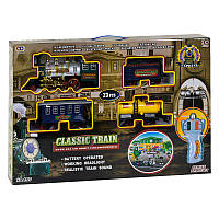 Железная дорога 155 г / к, звук, 23 элем, карт. декорации, в коробке