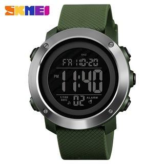 Skmei 1416 зеленые с железным кантом мужские спортивные часы