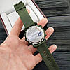 Мужские спортивные часы Skmei 1416 Зеленые с железным кантом, фото 3