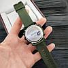 Skmei 1416 зеленые с железным кантом мужские спортивные часы, фото 3