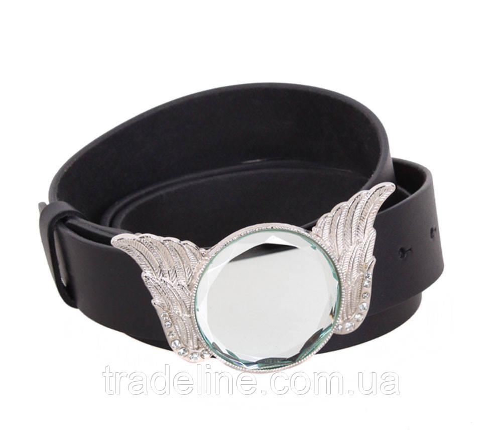 Женский кожаный ремень Dovhani QS2203-3636 115-125 см Черный