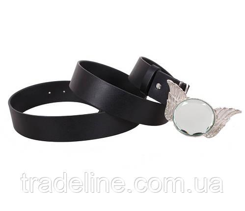 Женский кожаный ремень Dovhani QS2203-3636 115-125 см Черный, фото 2