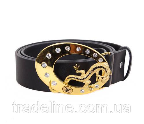 Женский кожаный ремень Dovhani QS2203-3838 115-125 см Черный, фото 2