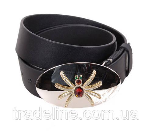 Женский кожаный ремень Dovhani QS2203-444 115-125 см Черный, фото 2