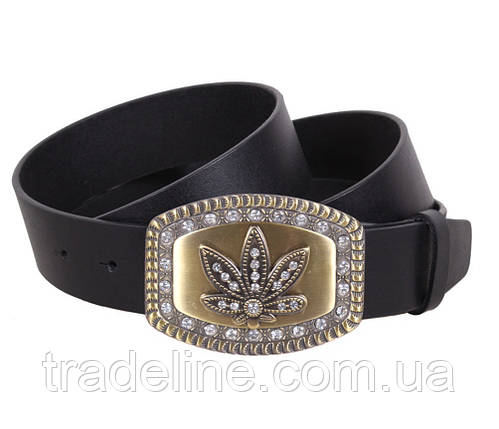 Женский кожаный ремень Dovhani QS2203-5151 115-125 см Черный, фото 2