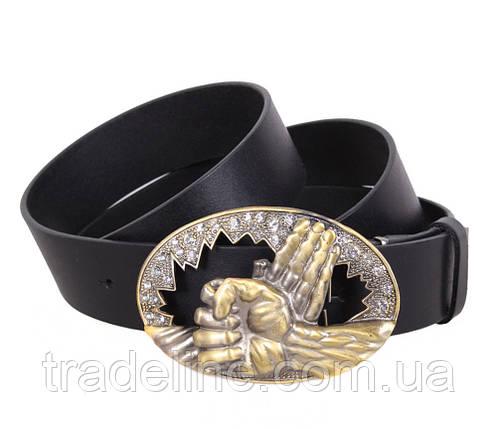 Женский кожаный ремень Dovhani QS2203-6868 115-125 см Черный, фото 2