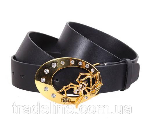 Женский кожаный ремень Dovhani QS2203-7171 115-125 см Черный, фото 2