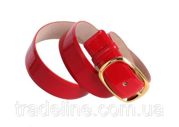 Женский кожаный ремень Dovhani red10505 115-125 см Красный, фото 2
