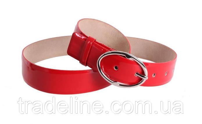 Женский кожаный ремень Dovhani red10808 115-125 см Красный, фото 2