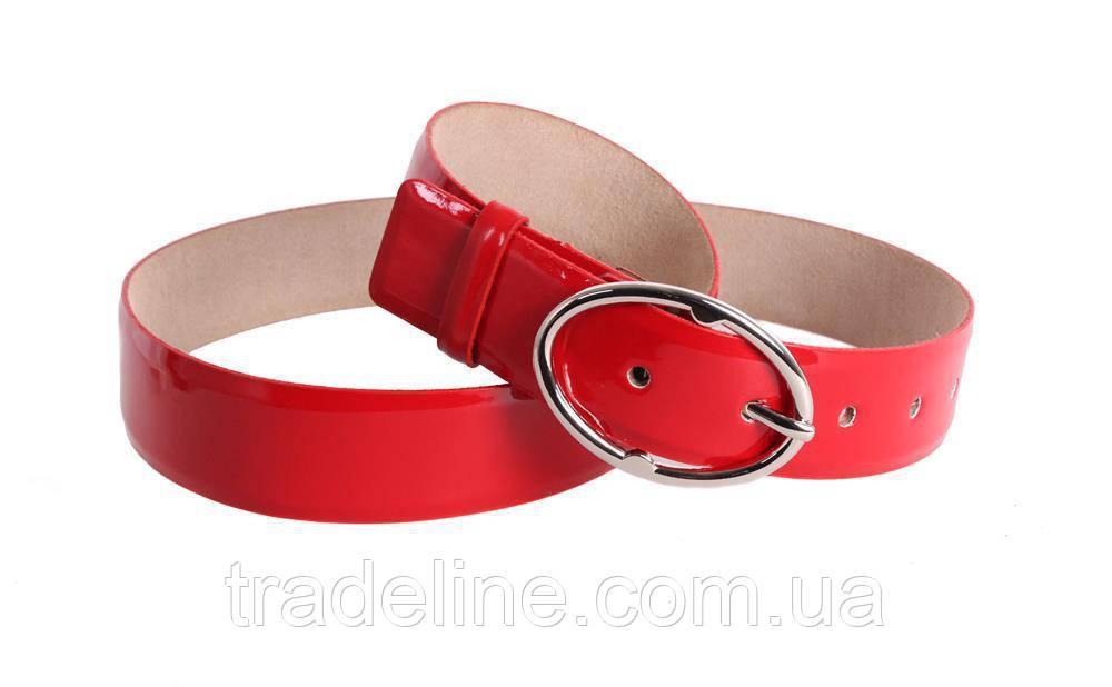 Женский кожаный ремень Dovhani red10808 115-125 см Красный