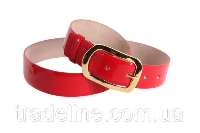 Женский кожаный ремень Dovhani red10909 115-125 см Красный, фото 2