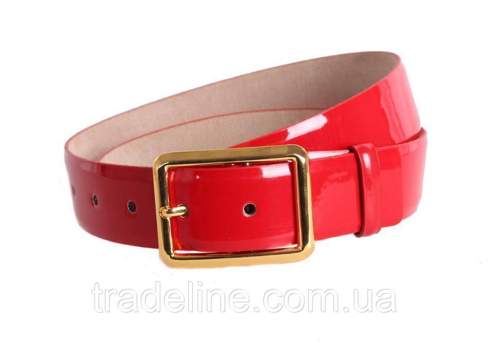 Женский кожаный ремень Dovhani red11111 115-125 см Красный