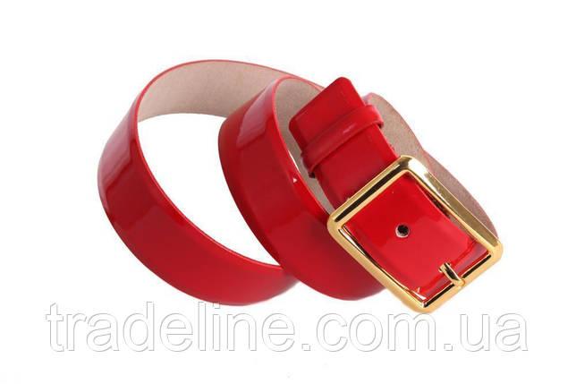 Женский кожаный ремень Dovhani red11111 115-125 см Красный, фото 2