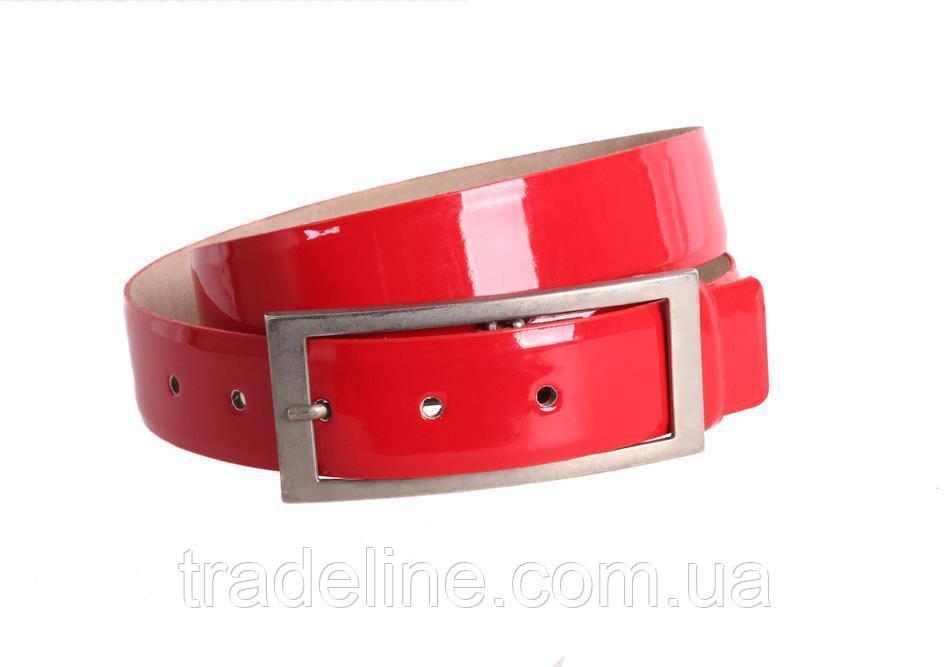 Женский кожаный ремень Dovhani red11414 115-125 см Красный