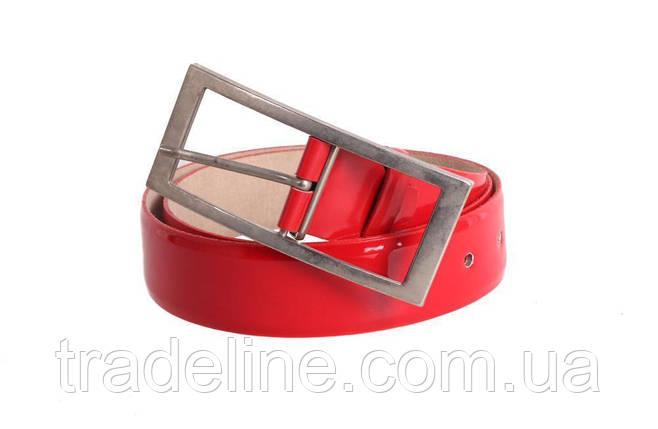Женский кожаный ремень Dovhani red11414 115-125 см Красный, фото 2
