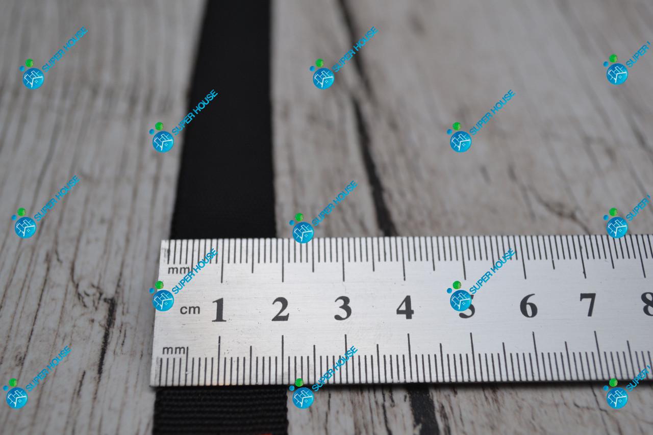 Лента окантовочная полиамид/20мм/черная/арт.2433