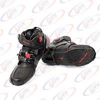 Мотоботы PRO-9001 черные, 42 размер