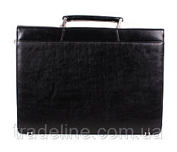 Портфель кожаный мужской Dovhani BL-348386 Черный, фото 3