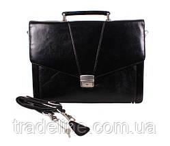 Портфель кожаный мужской Dovhani BL-348386 Черный, фото 2
